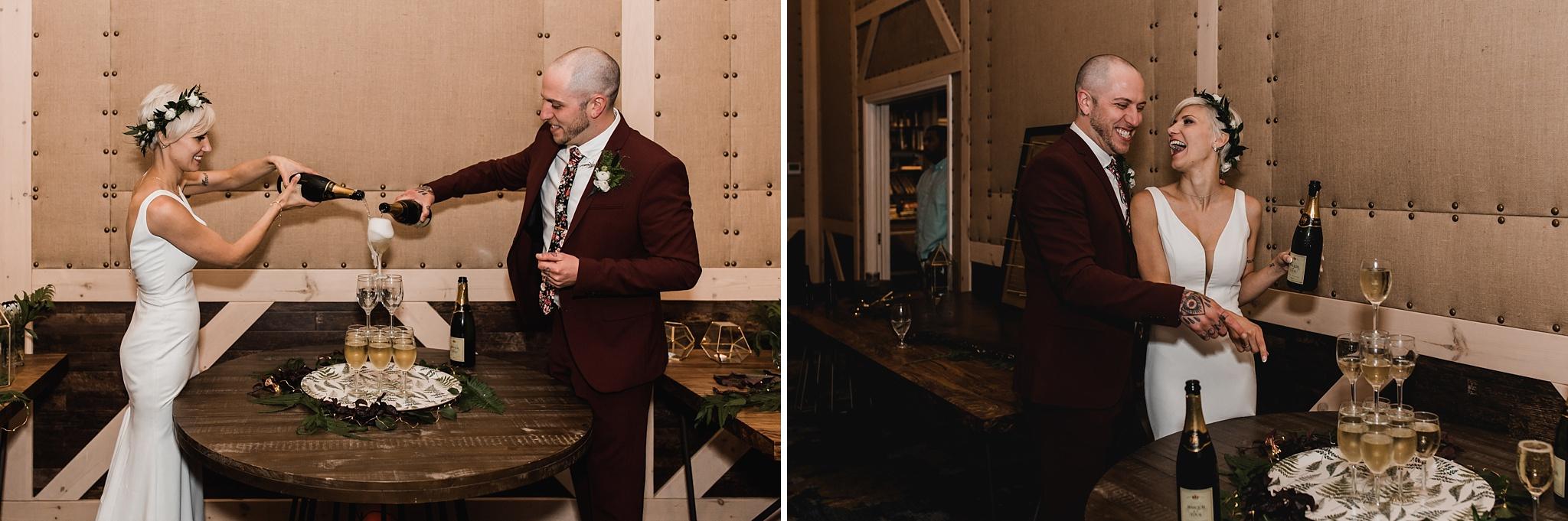 champagne tower wedding