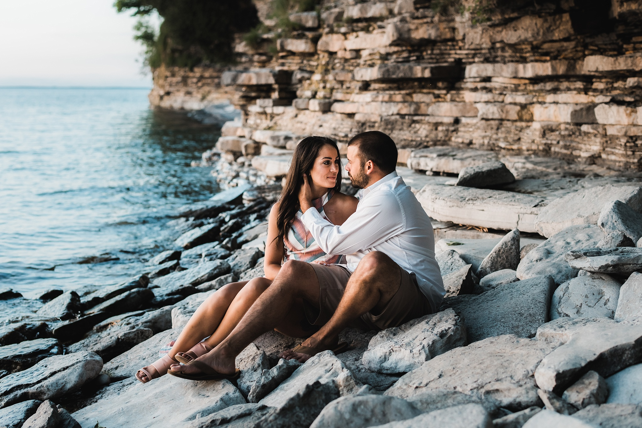 nyc engagement photo on beach