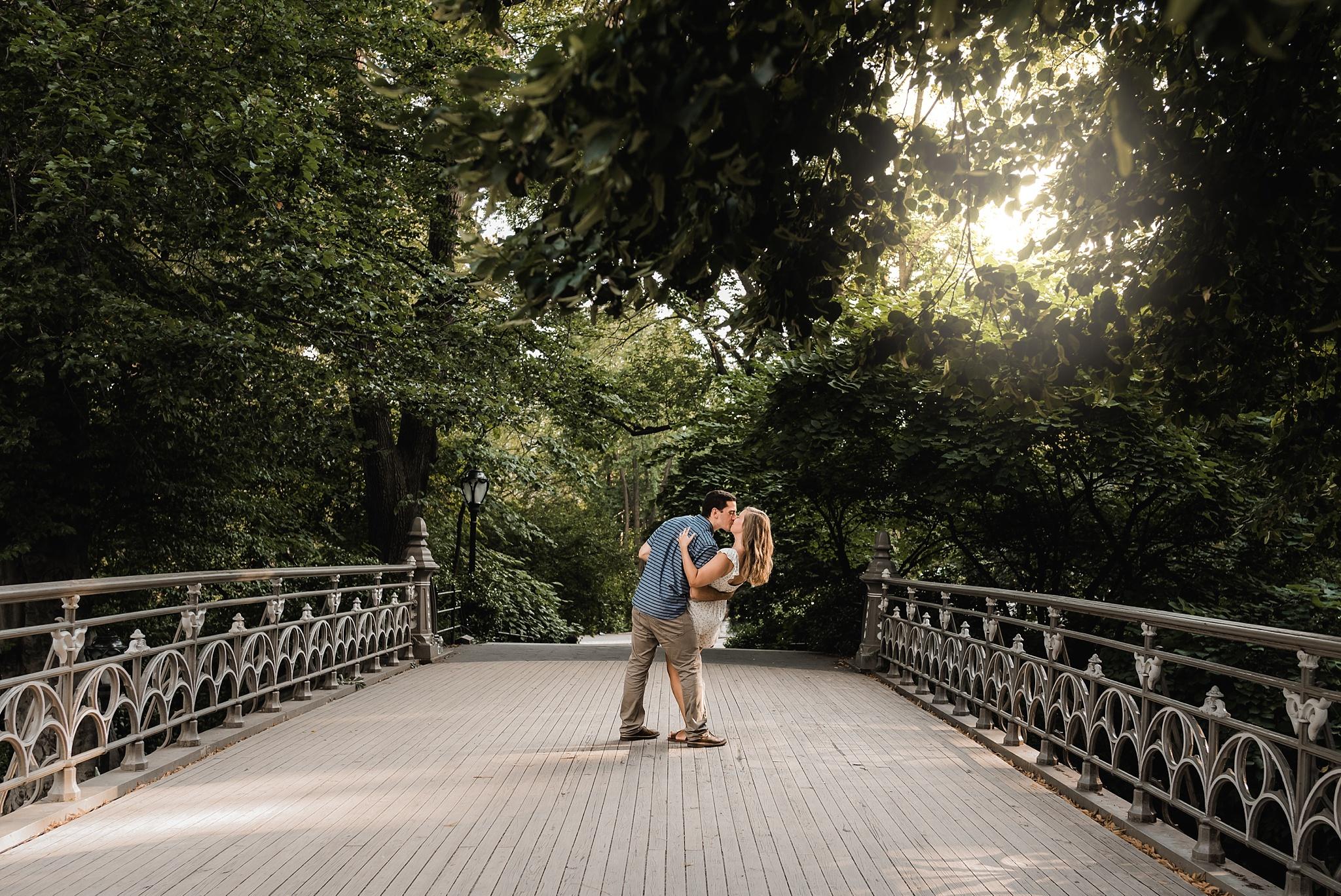 central park bride engagement photo
