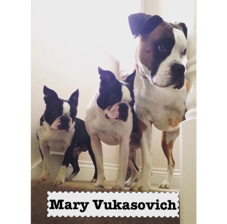 Thank you to Mary Vukasovick.