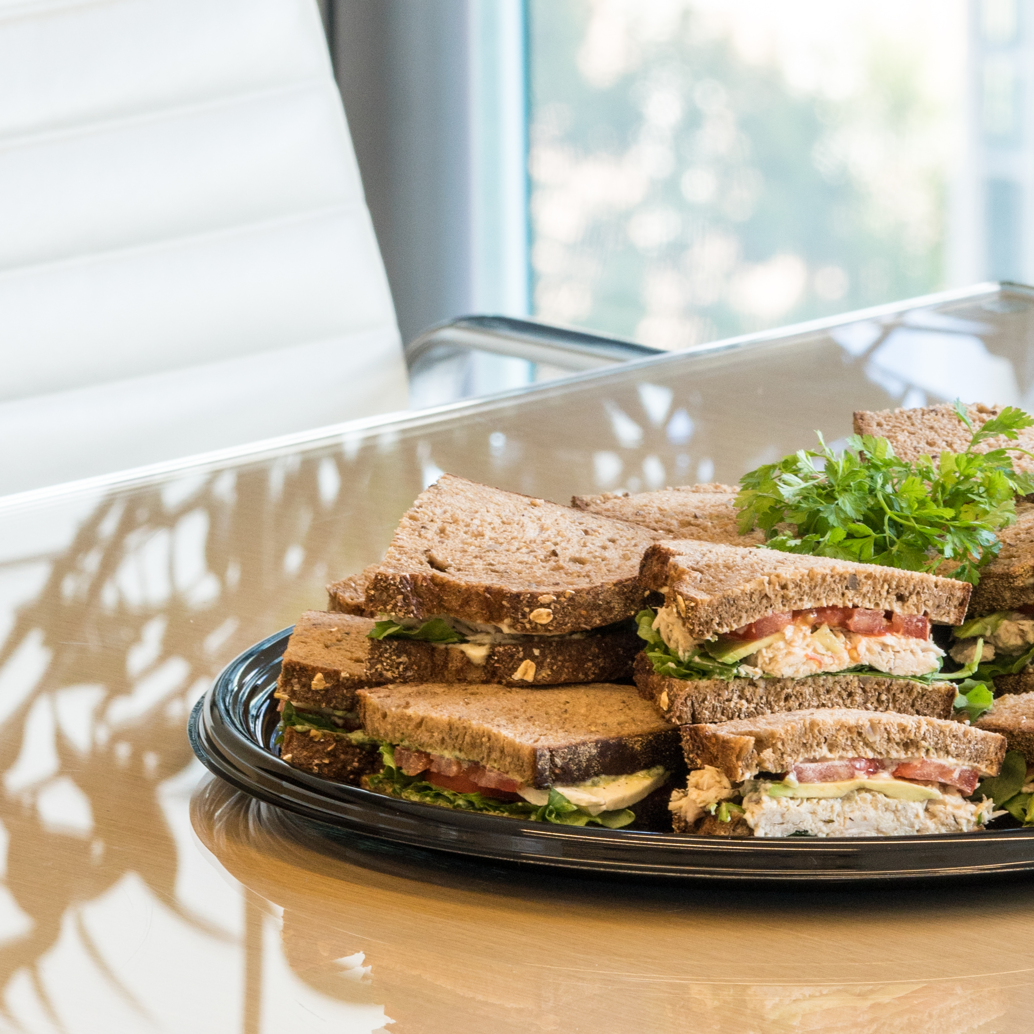 Catering  Enjoy a full selection of ready-to-go meals and sides for your next event or meeting.