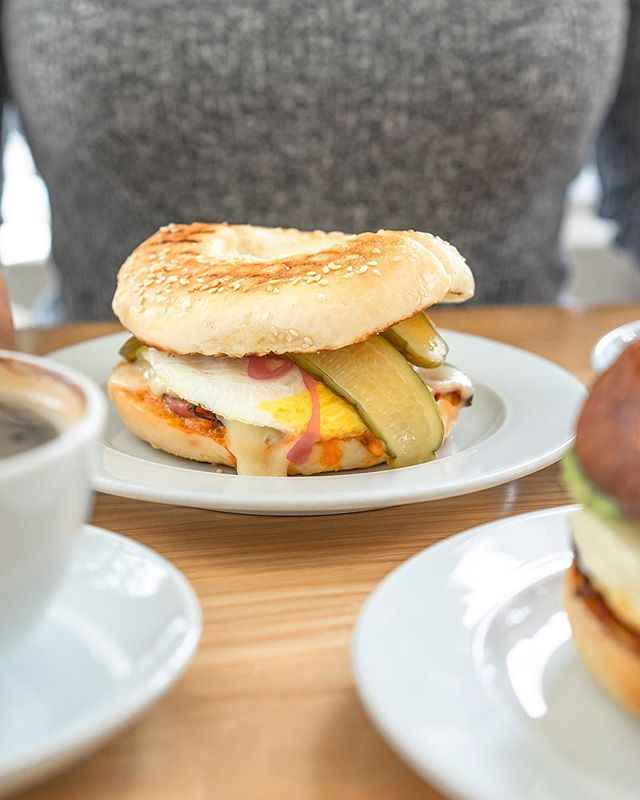 Your mornings set the tone for the day. Why not start it with a toasted bagel breakfast sandwich?