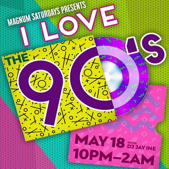 Wazaaaaaaa! I LOVE THE 90's! May 18th the biannual adventure into the music we hate to love but just can't get enough of is BACK! 10pm-2am with DJ Jay Ine! 😝😝😝 . . #ilovethe90s #nineties #90sbaby #mtv #realworld #roadrules #grunge #pop #boybands #girlgroups #jackass #VH1 #britneyspears #madonna #boygeorge #georgemichael