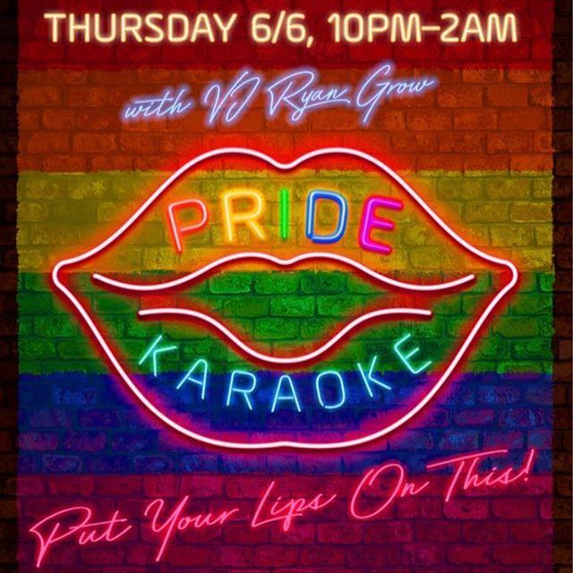 A very special THURSDAY EDITION of VJ Ryan Grow's POP ROCKS KARAOKE for Boston Pride! Come out 10pm-2am #dbar #dbarboston #bostongays #lgbtq #lgbtq🌈 #loveislove #pride #bostonpride #iggers #gays #boston #thehub #thebull #improperbostonian #bostonmagazine #spiritmagazine