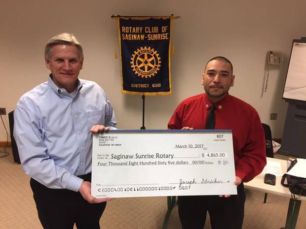 Hispanic Organization Cinco K Donated nearly 5,000 for College Scholarships