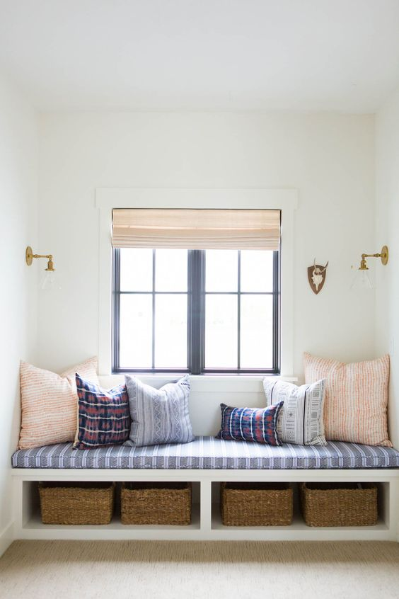 Add a built-in bench to create a cozy nook and give a custom feel to your space.