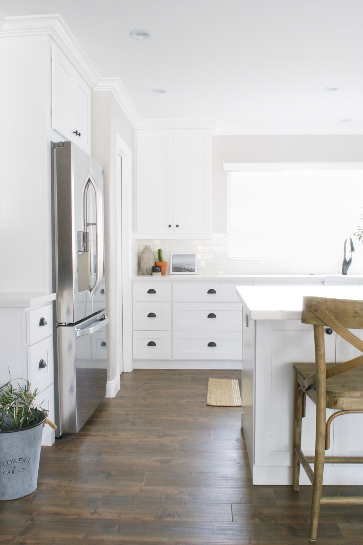 bright white kitchen -