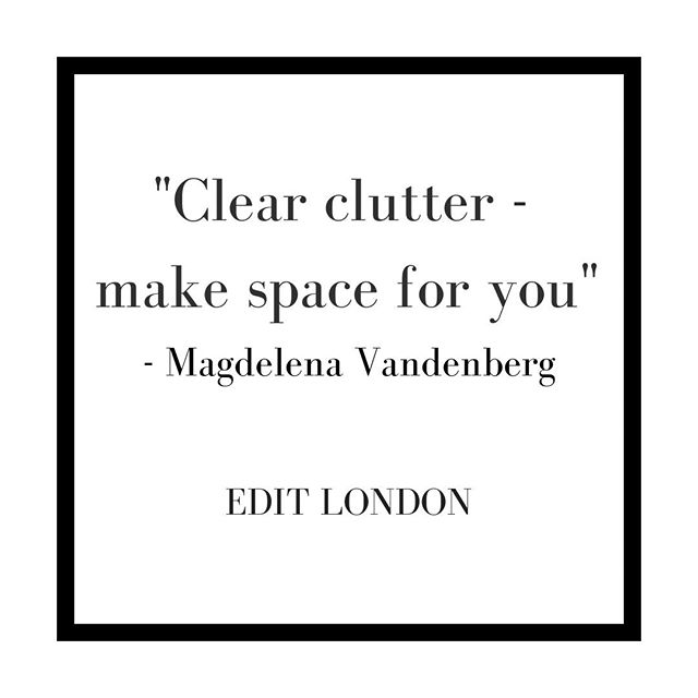 """Clear clutter - make space for you"" - Magdelena Vandenberg⠀⠀⠀⠀⠀⠀⠀⠀⠀ .⠀⠀⠀⠀⠀⠀⠀⠀⠀ Getting rid of things can be a hard process but it can also be extremely rewarding! ⠀⠀⠀⠀⠀⠀⠀⠀⠀ .⠀⠀⠀⠀⠀⠀⠀⠀⠀ .⠀⠀⠀⠀⠀⠀⠀⠀⠀ .⠀⠀⠀⠀⠀⠀⠀⠀⠀ .⠀⠀⠀⠀⠀⠀⠀⠀⠀ .⠀⠀⠀⠀⠀⠀⠀⠀⠀ .⠀⠀⠀⠀⠀⠀⠀⠀⠀ .⠀⠀⠀⠀⠀⠀⠀⠀⠀ .⠀⠀⠀⠀⠀⠀⠀⠀⠀ . ⠀⠀⠀⠀⠀⠀⠀⠀⠀ #editlondon #homedecor #konmari #homedesign #lessismore #tidying #tidyinspiration #personalorganiser #personalorganizer #livewithless #simplify #storageideas #clutternomore #myinspiredhouse #declutter #declutterlikeamother #tidy #stayorganized #decluttering #houzz #howyouhome #loveyourhabitat #decluttermylife #thelifechanginghabitoftidyingup #hygge #tidyhome #tidybedroom #unclutter #editlondonloves"