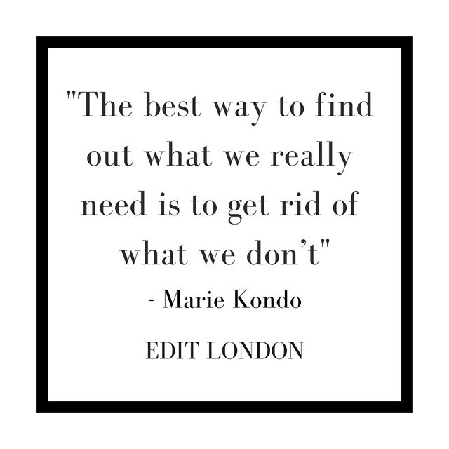 """The best way to find out what we really need is to get rid of what we don't"" - Marie Kondo⠀⠀⠀⠀⠀⠀⠀⠀⠀ .⠀⠀⠀⠀⠀⠀⠀⠀⠀ .⠀⠀⠀⠀⠀⠀⠀⠀⠀ .⠀⠀⠀⠀⠀⠀⠀⠀⠀ .⠀⠀⠀⠀⠀⠀⠀⠀⠀ .⠀⠀⠀⠀⠀⠀⠀⠀⠀ .⠀⠀⠀⠀⠀⠀⠀⠀⠀ .⠀⠀⠀⠀⠀⠀⠀⠀⠀ .⠀⠀⠀⠀⠀⠀⠀⠀⠀ .⠀⠀⠀⠀⠀⠀⠀⠀⠀ .⠀⠀⠀⠀⠀⠀⠀⠀⠀ . ⠀⠀⠀⠀⠀⠀⠀⠀⠀ #editlondon #homedecor #konmari #homedesign #lessismore #tidying #tidyinspiration #personalorganiser #personalorganizer #livewithless #simplify #storageideas #clutternomore #myinspiredhouse #declutter #declutterlikeamother #tidy #stayorganized #decluttering #houzz #howyouhome #loveyourhabitat #decluttermylife #thelifechanginghabitoftidyingup #hygge #tidyhome #tidybedroom #unclutter #editlondonloves"