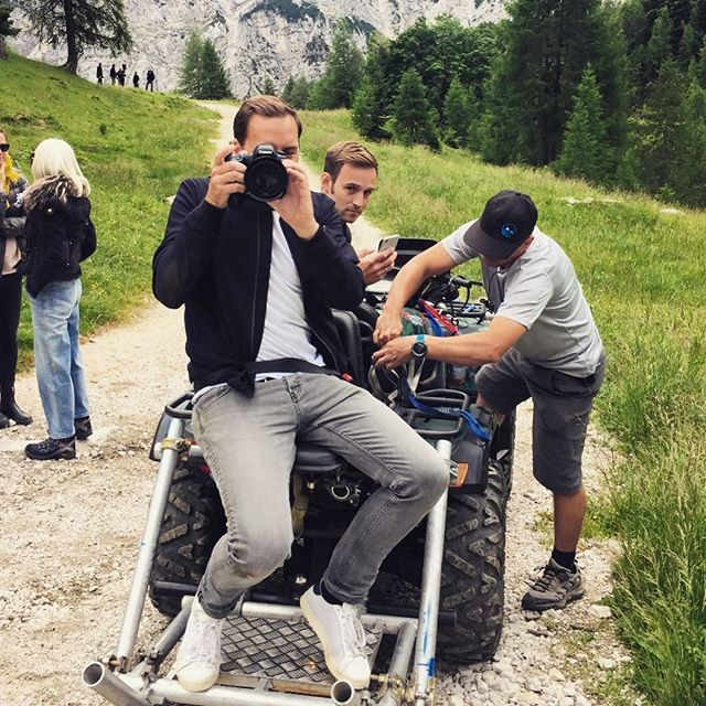Get the #quad read to shoot from all angles some driving scene for @niveamen_de . . . . . . . . . . . . #photoshooting in #slowenia with #jogilöw #romanweidenfeller #karlheinzriedle #landscape #mountains #driving #advertising #bts #behindthescenes #fast #nature #travelphotography