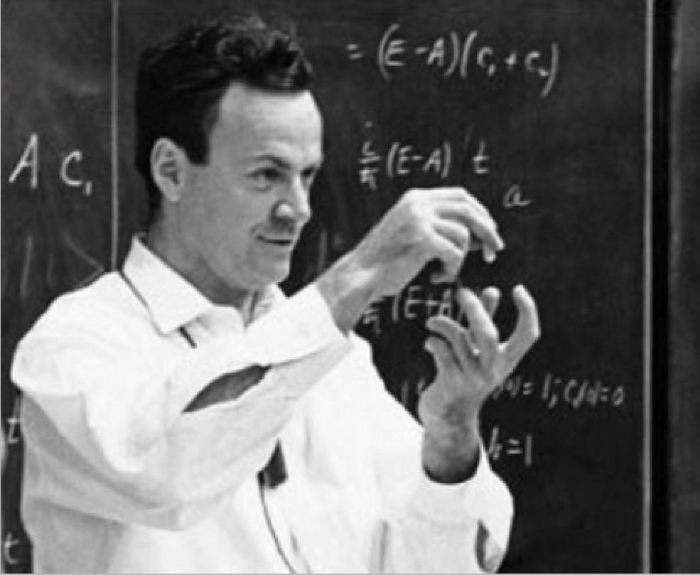 Professor Richard Feynman, the father of nanotechnology.