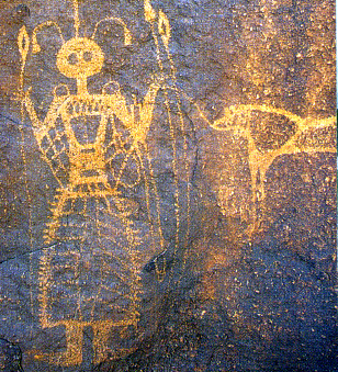 Petroglyphs in Niger   thought to be 30,000 years old found near the Oasis of Tezizet.