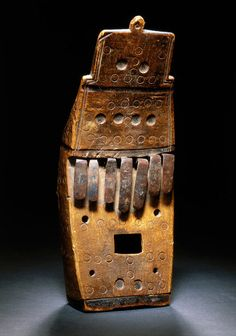 A thumb piano collected in 1867.
