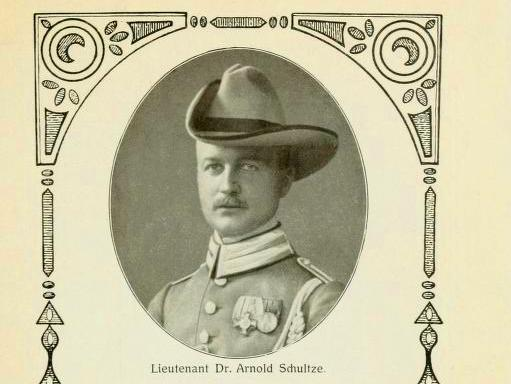 Lieutenant Dr. Arnold Schultze, officer and entomologist on the Mecklenburg-Schwerin expedition of 1907-08.
