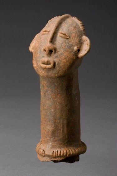 Bura sculpture of a head, Niger, c. 3rd-11th century (terracotta).