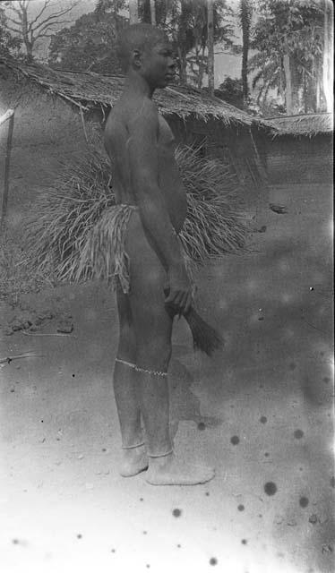 Boy dressed for a circumcision ritual. Cameroon, 1921.