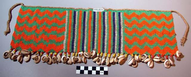 Beaded apron/loincloth from northern Cameroon, Kirdi tribe.