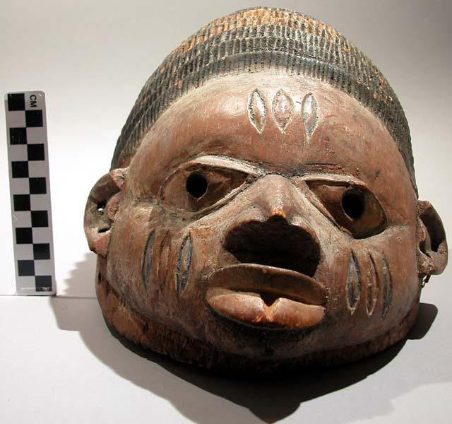 A Gelede society mask from Nigeria.