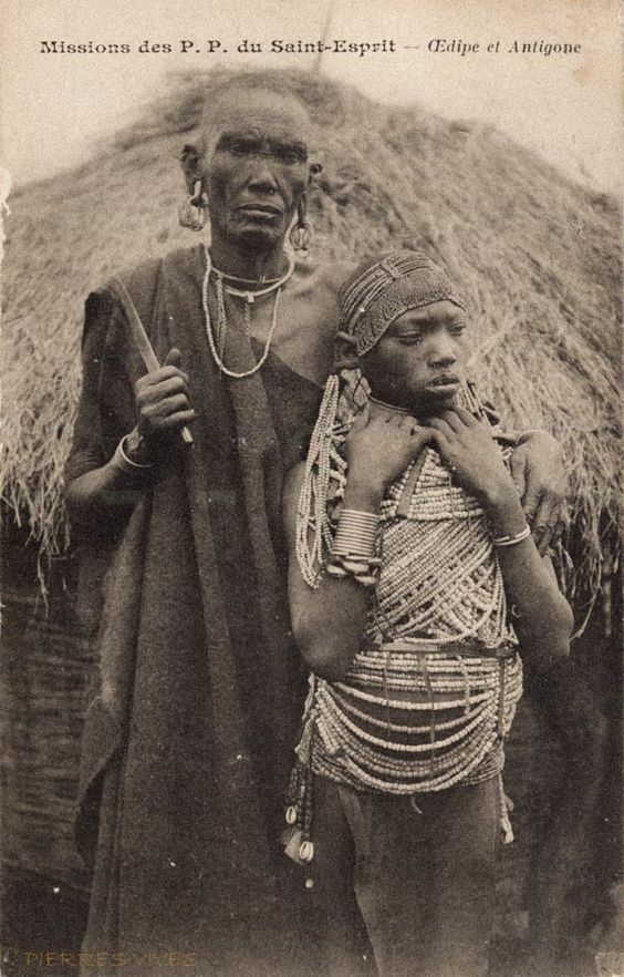 A photo from East Africa: Oedipus and Antigone.