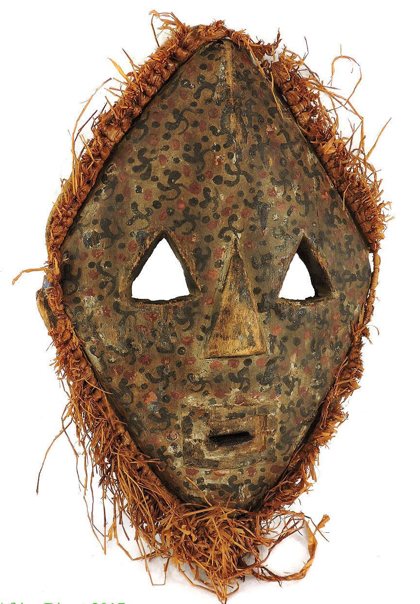 A Pygmy or Lega tribal mask. Early to mid 20th century.