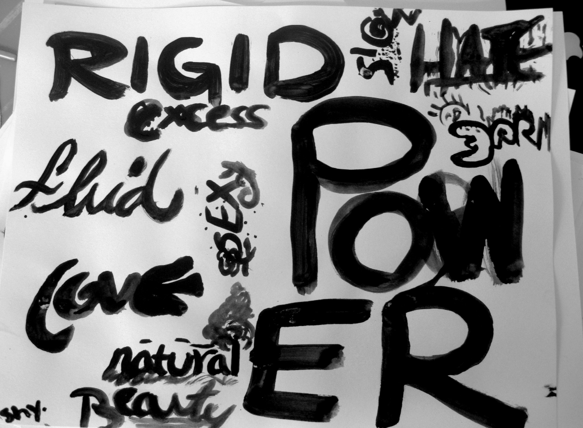 Word Illustrations / NYU Teen Workshop