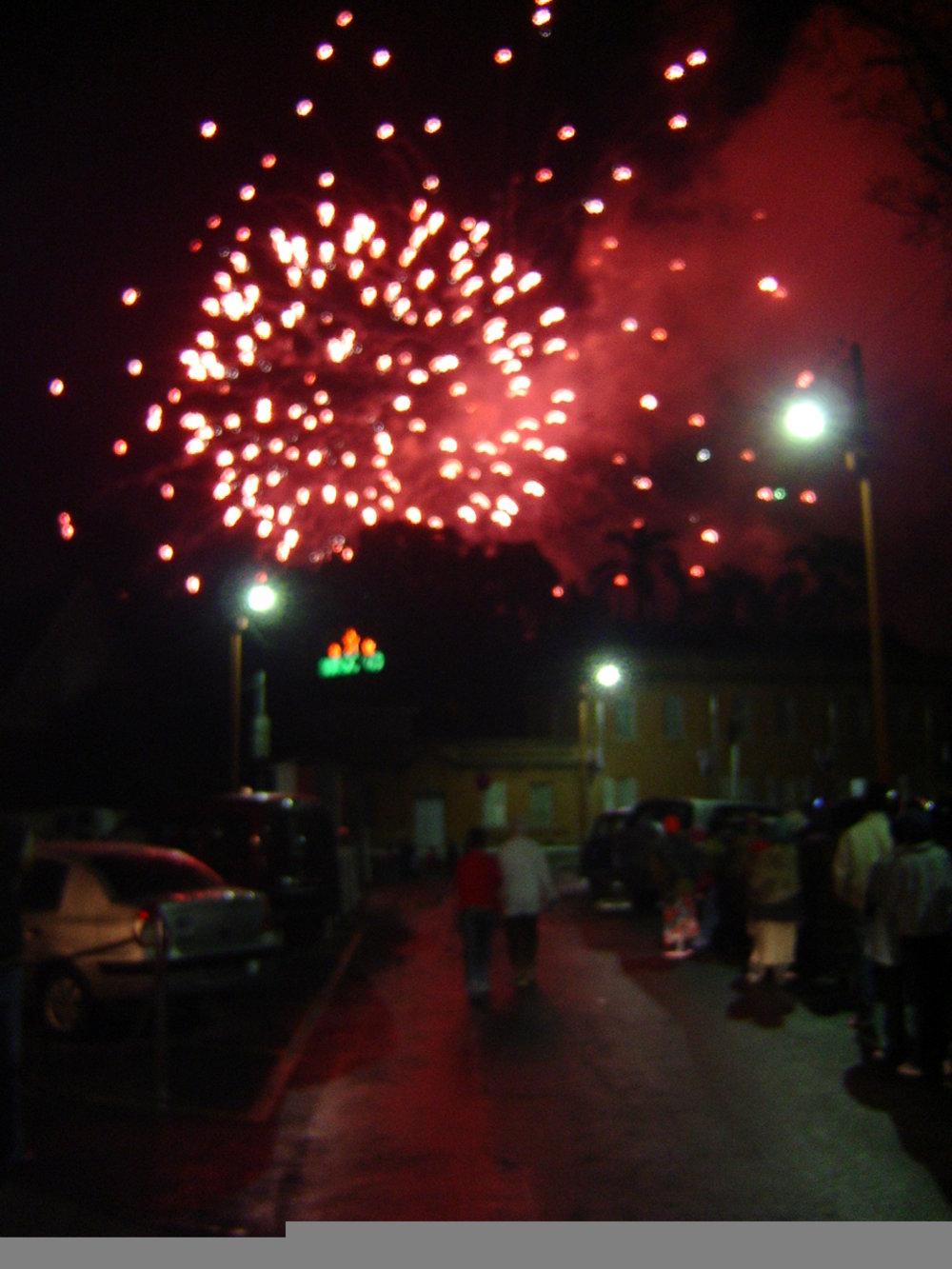 Fireworks display in Mantasua
