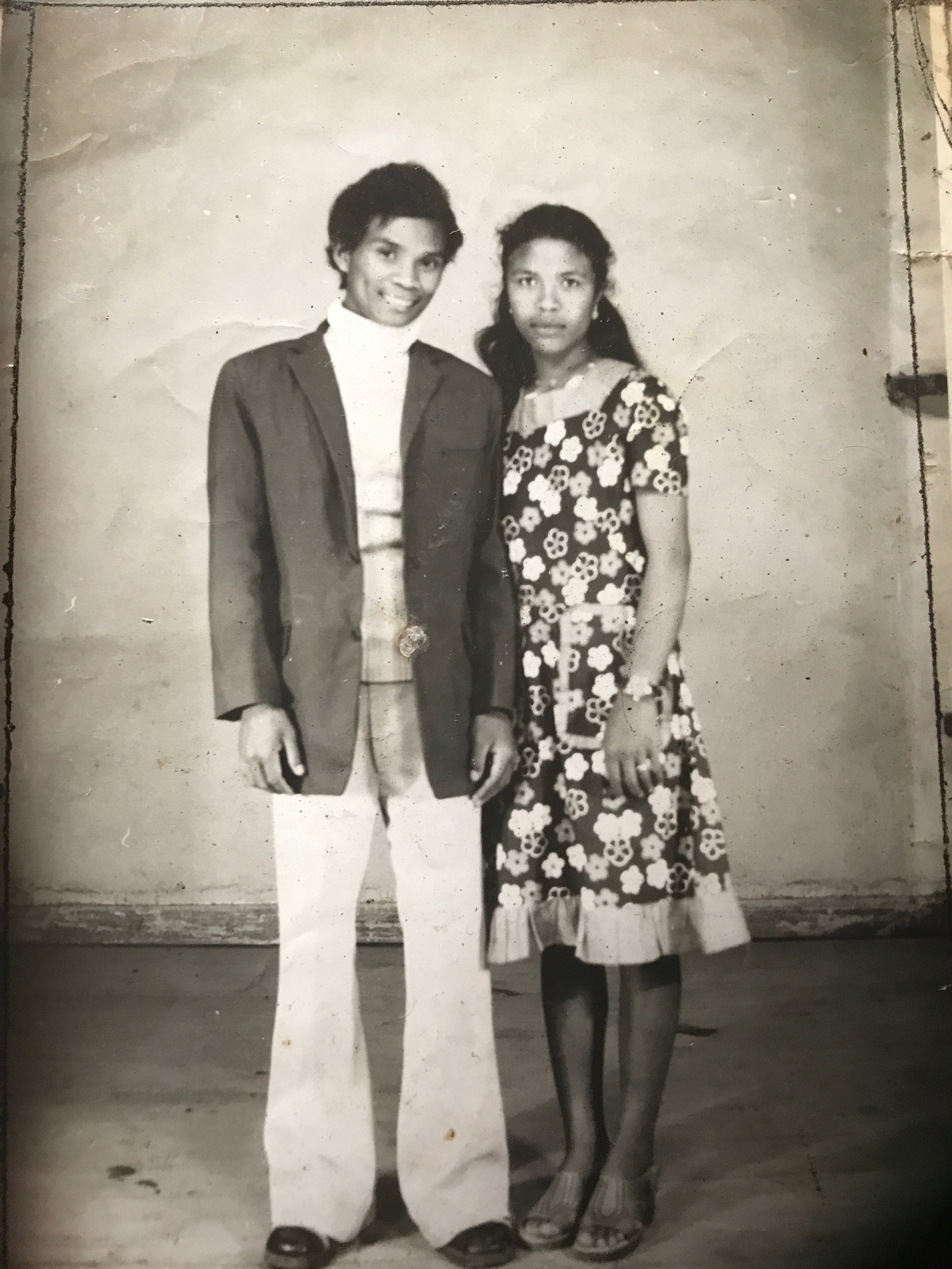Neny Doline and Dada Michel in their youth.