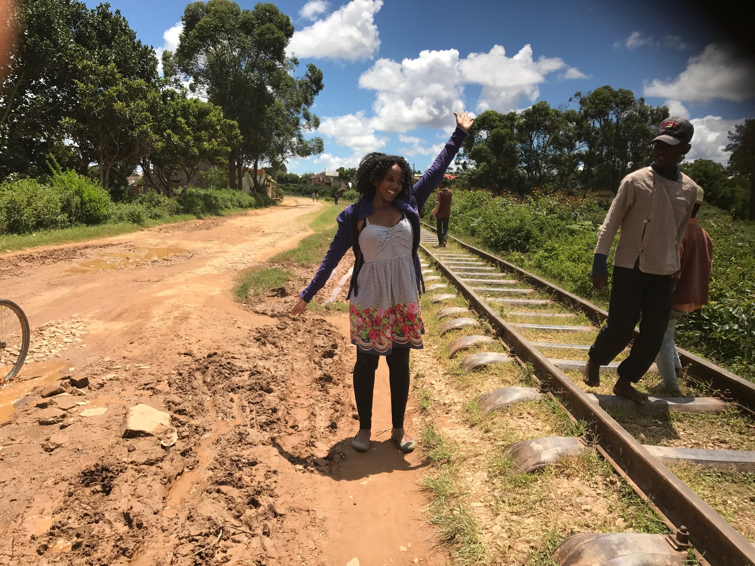 Posing by the Sahambavy Traintracks.