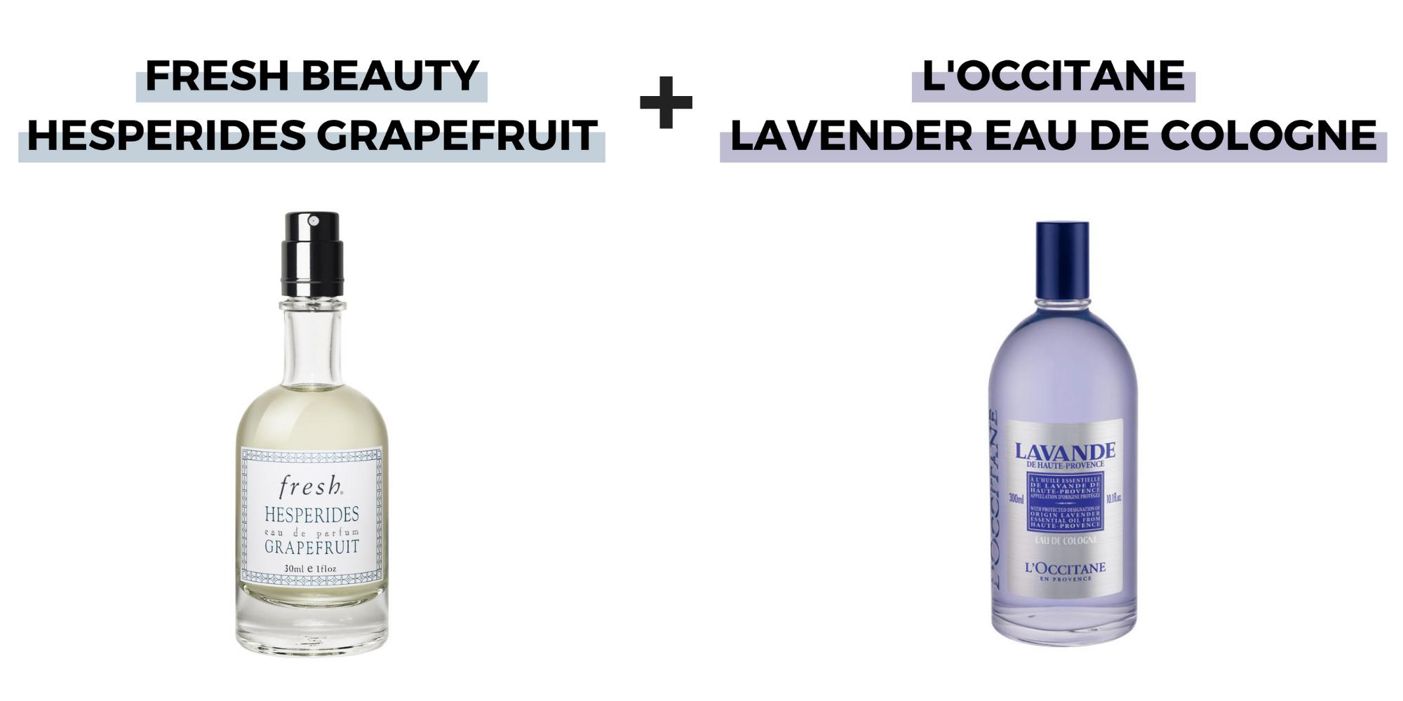fresh beauty hesperides grapefruit l'occitane lavender eau de cologne perfume