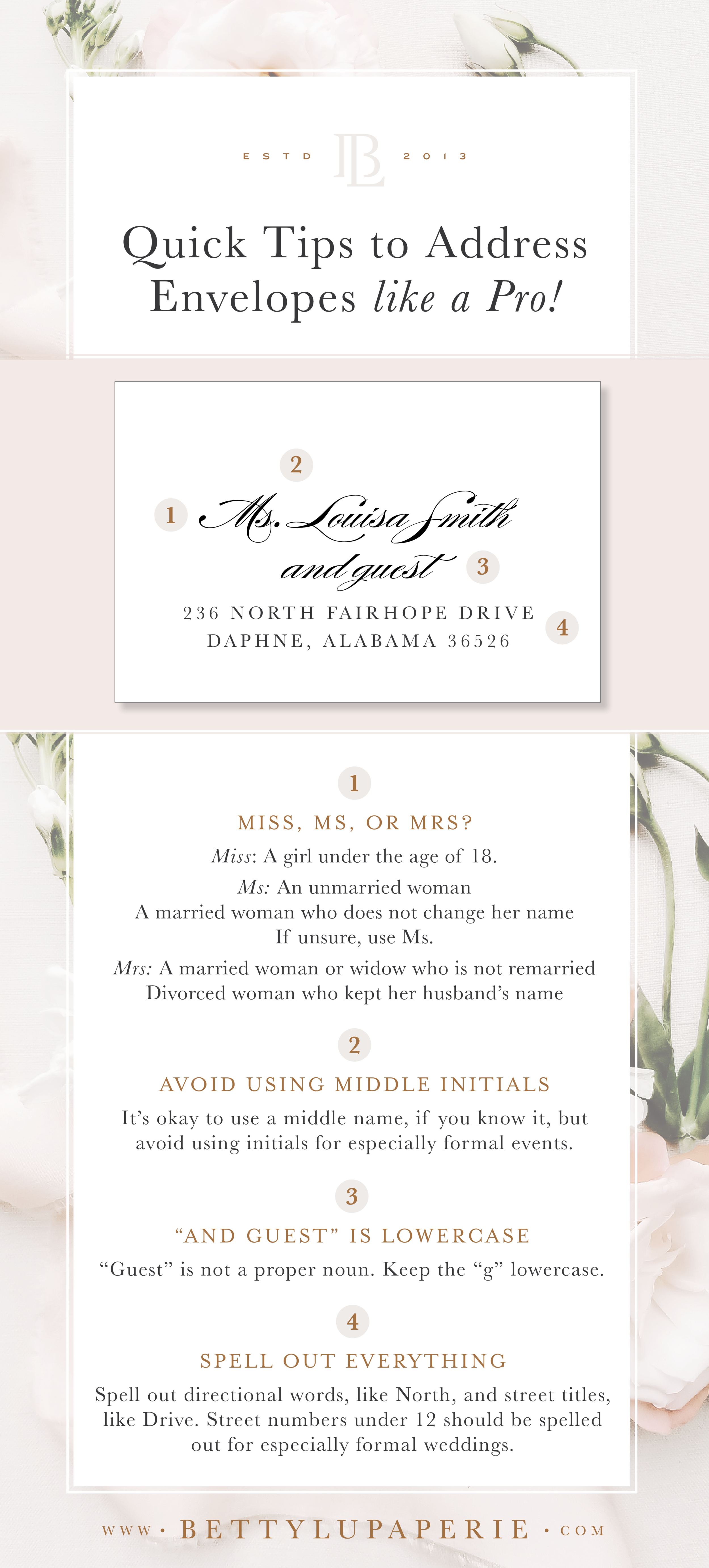 How To Address Wedding Invitation Envelopes Like A Pro Floral