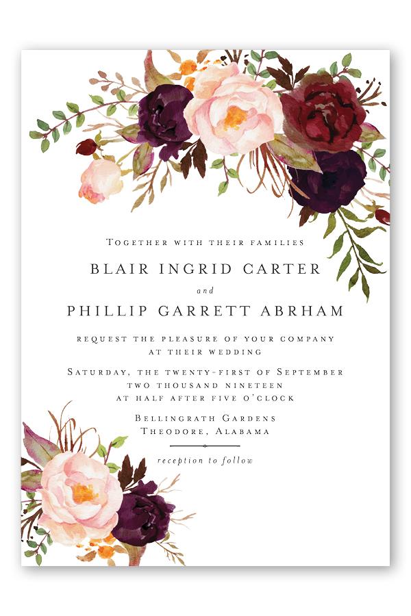 Burgundy Floral Wedding Invitations.jpg