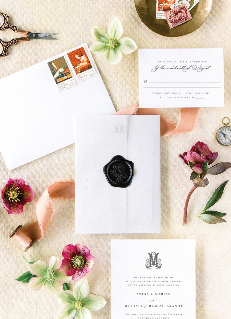 address wedding invitations - Abby suite has all the feels of a classic wedding invitation, with just a hint of vintage appeal.
