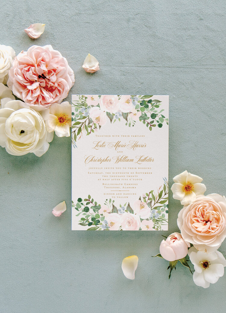 address wedding invitations - These floral wedding invitations offer an elegant start to any type of wedding theme, be it a romantic city hall wedding to an upscale boho affair.