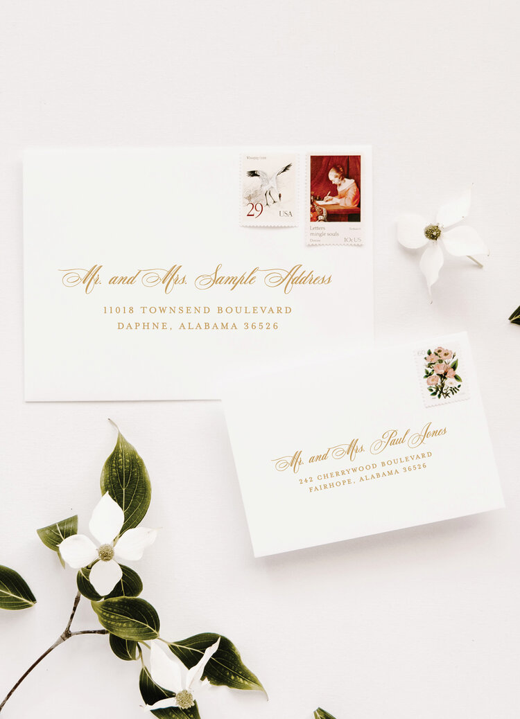 address wedding invitations - outer and inner envelopes