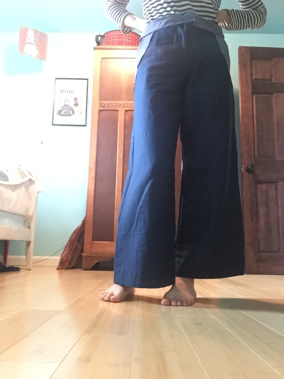pants for learning (a long, slow, maddening process built of hair-tearing frustration and a single burst of euphoric relief)
