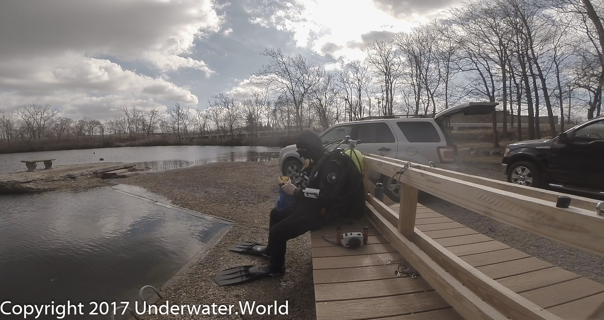 Wintertime Diving in Indiana