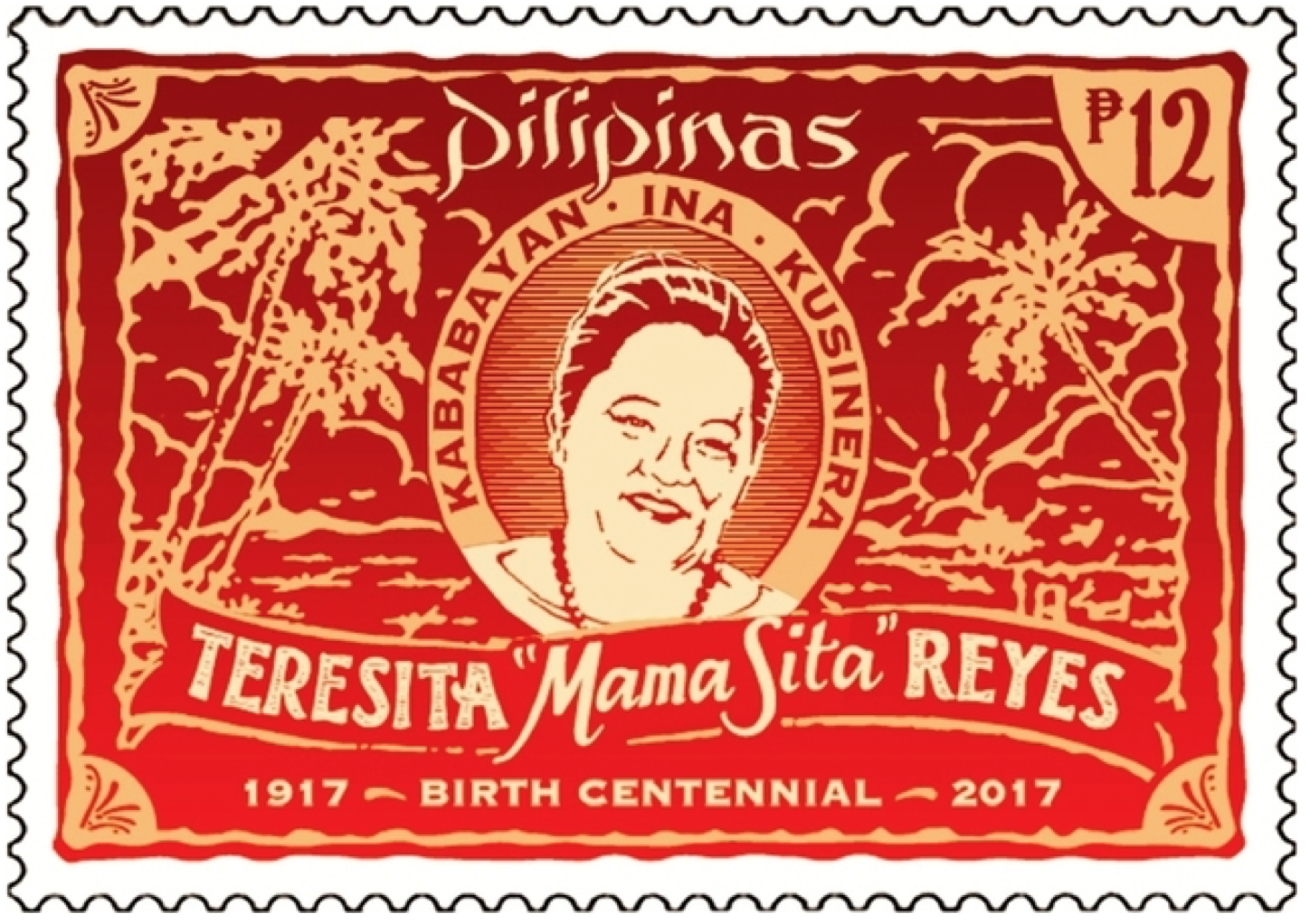 MAMA SITA. The Philippine Postal Office has released a special stamp in honor of Mama Sita