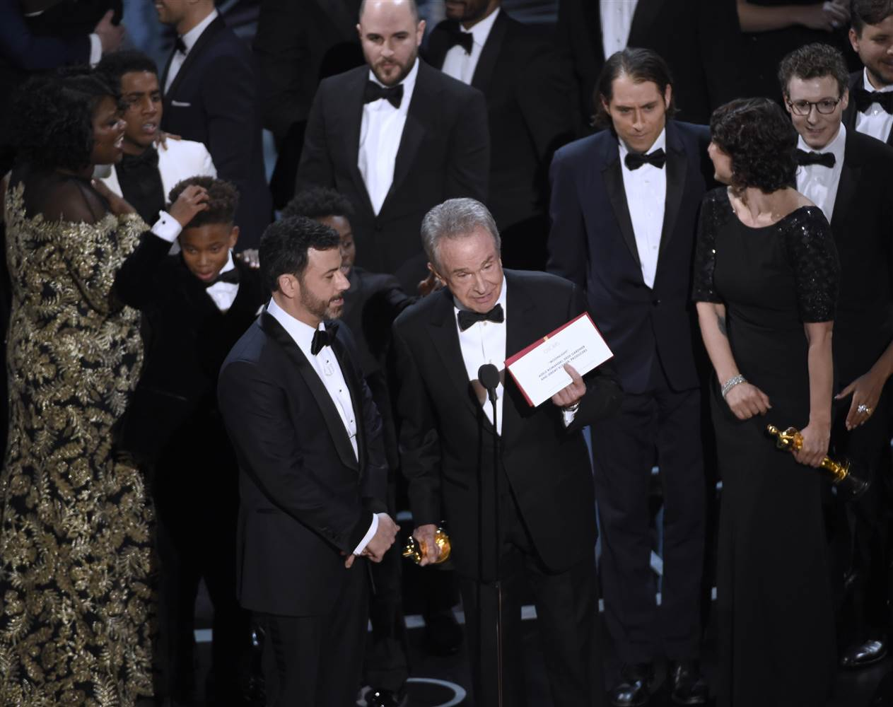 Warren Beatty explaining why he announced 'La La Land' as the Best Picture winner.