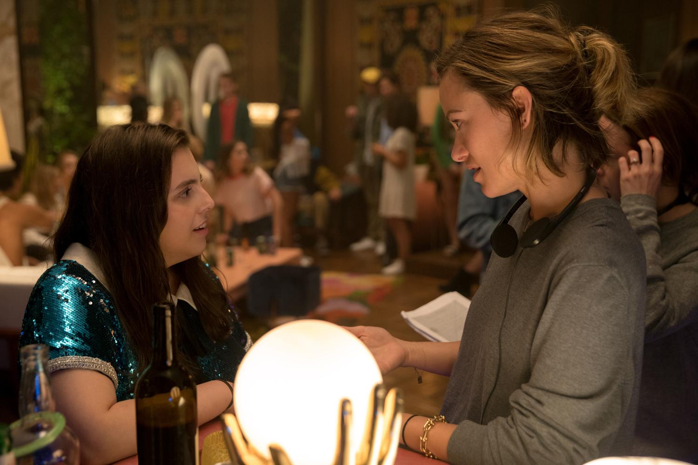 Feldstein (left) and Director Olivia Wilde