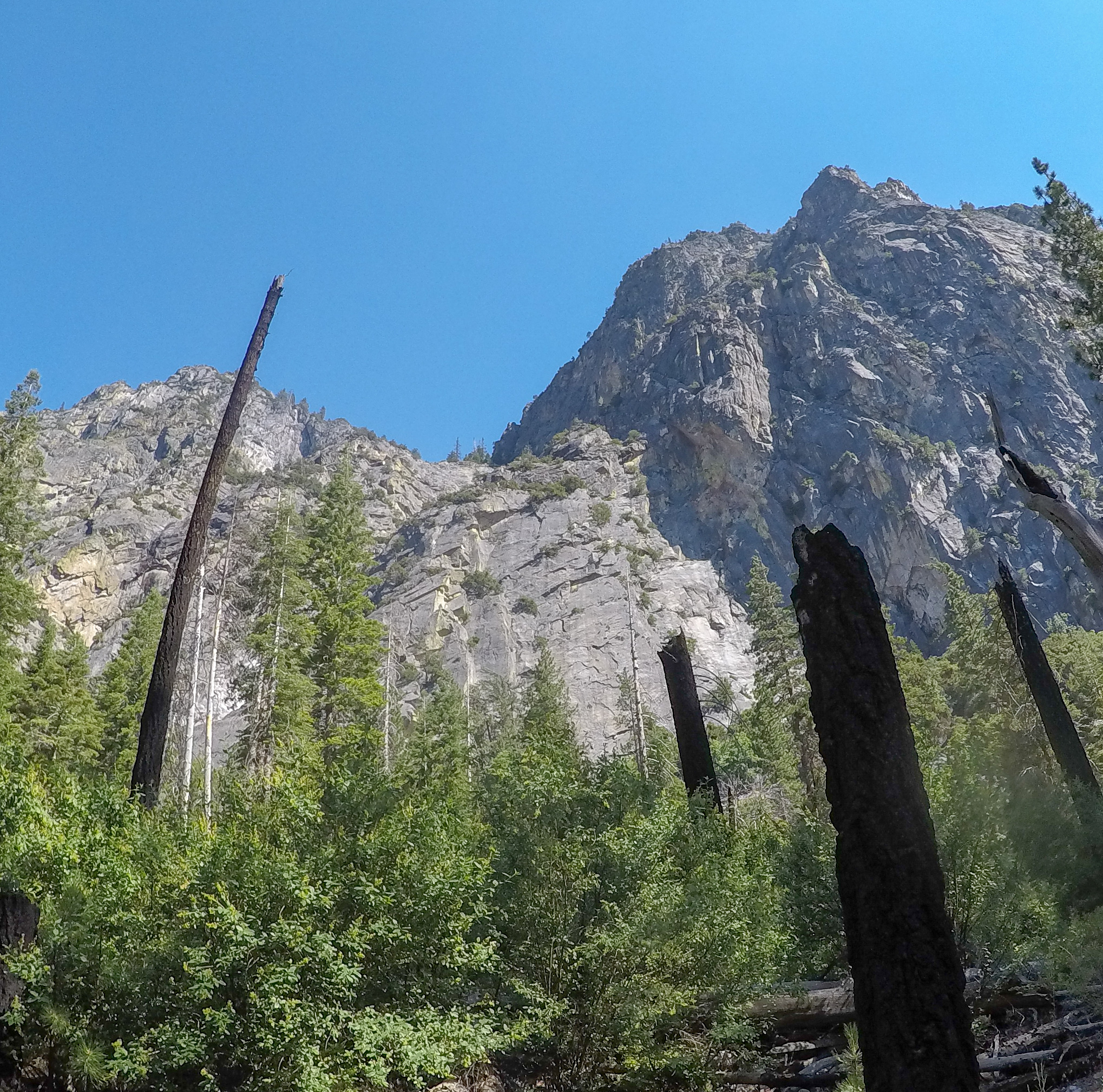 View of the climb from the trailhead