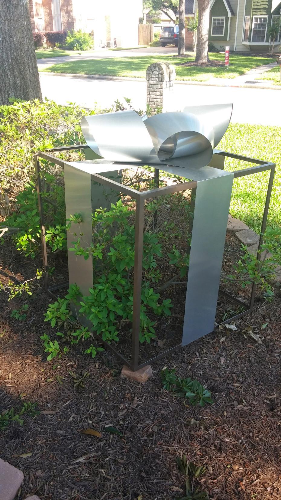 Cage, 2015, Steel Aluminum Paint, 36 x 36 x 36