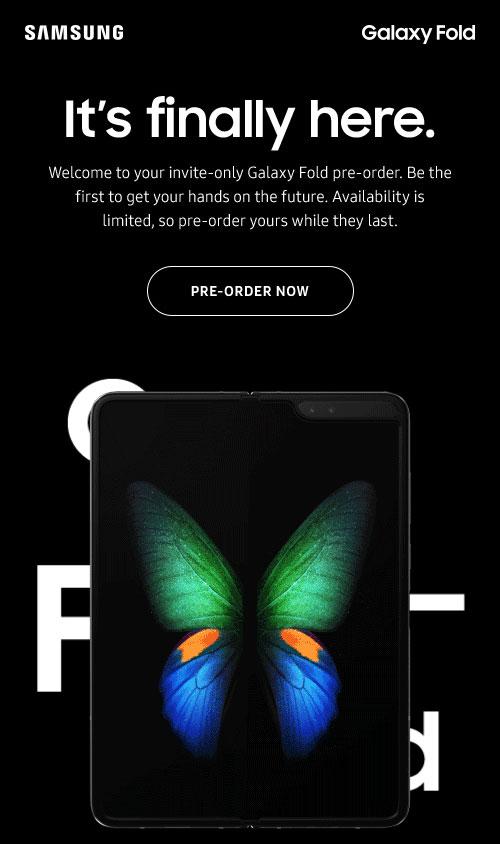 - จอง Samsung Galaxy Fold ได้แล้วในอเมริกา