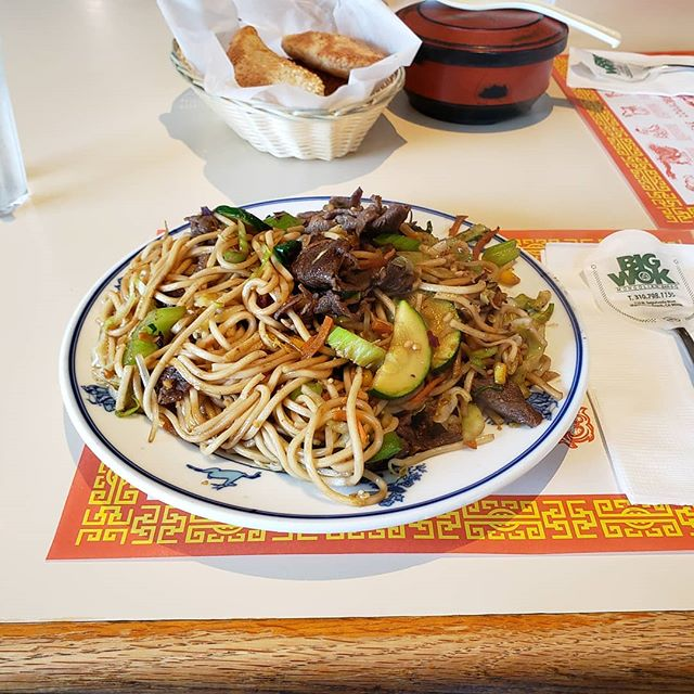Mongolian BBQ from Big Wok Mongian BBQ in Manhattan Beach, CA  It's one of the best Mongolian BBQ I ever had; and it's AYCE so you can get as much as you want. :) #Food  #FoodInLA  #Noodles  #MongolianBBQ #BigWokMongolianBBQ #AlexiXyz #AlexiXyzFood