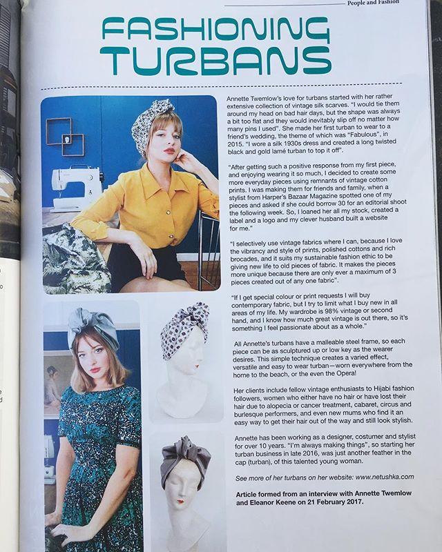 #netushkaturbans interview with designer @nettietwem in #vintagemademagazine