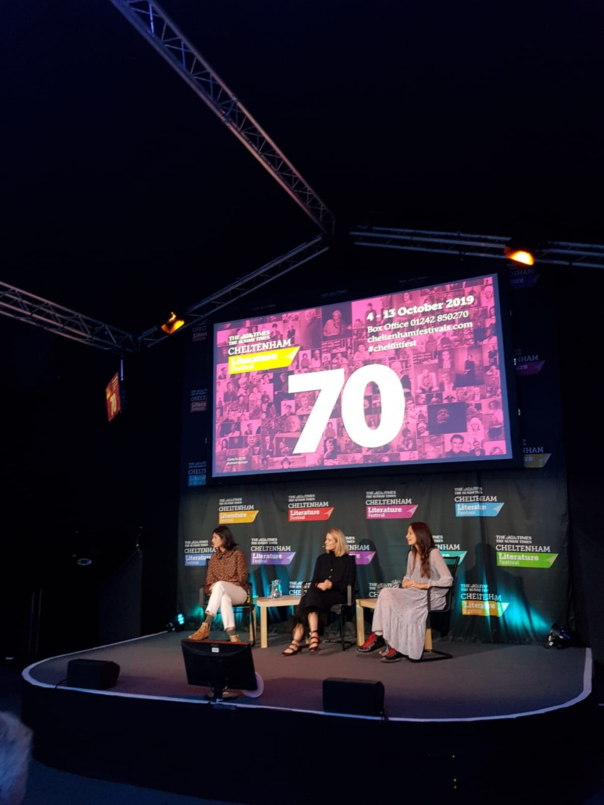 """You'Re Not Broke, You'Re Pre-Rich @ Cheltenham Literature festival 2019 with Emilie Bellet and Alex Holder - Sat 12 Oct 4pmThank you Cheltenham Festivals for your invitation to speak about my book """"You're not broke, you're pre-rich"""" on Saturday.I loved talking about money with the amazing Alex Holder and Sarah Raphael ✨. Thank you to everyone who came and bought our books too 💛!EmilieFrom friendships, to ambitions, to mental health, money plays a huge role in our lives, yet we're often too polite or embarrassed to talk about it. Alex Holder (Open Up) and Emilie Bellet speak to Sarah Raphael about debunking the financial jargon and breaking the money taboo. Full of sympathetic, practical advice on everything from mindful spending and finding financial freedom, they will strip away the awkwardness to help you find the power and solidarity of talking about money."""