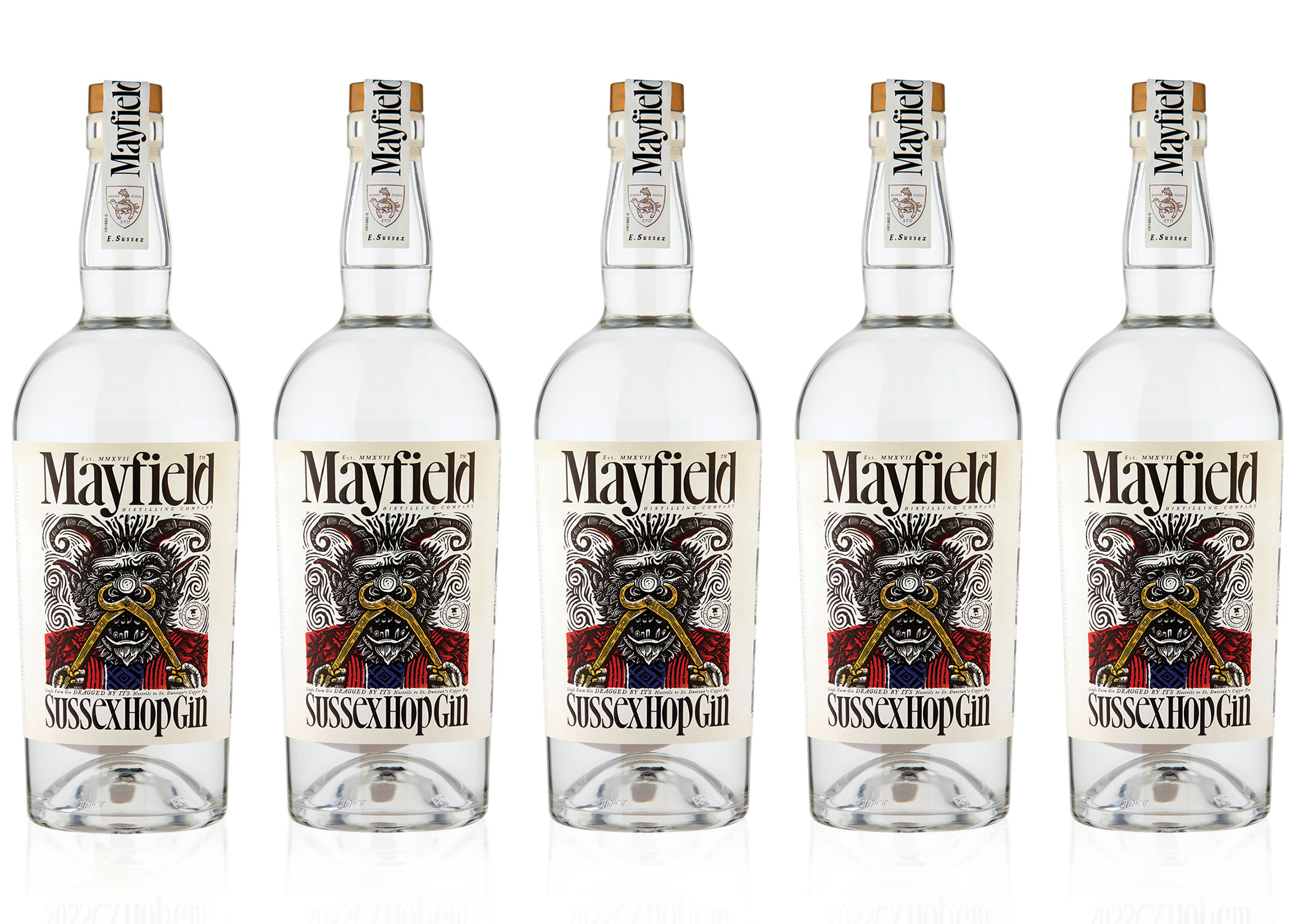 MAYFIELD DISTILLING COmpany - Discover the diabolically delectable gin range from Mayfield Distilling Company: Mayfield Sussex Hop Gin, Mayfield Rhubarb & Ginger Gin Liqueur and Mayfield Elderflower & Peach Gin Liqueur.