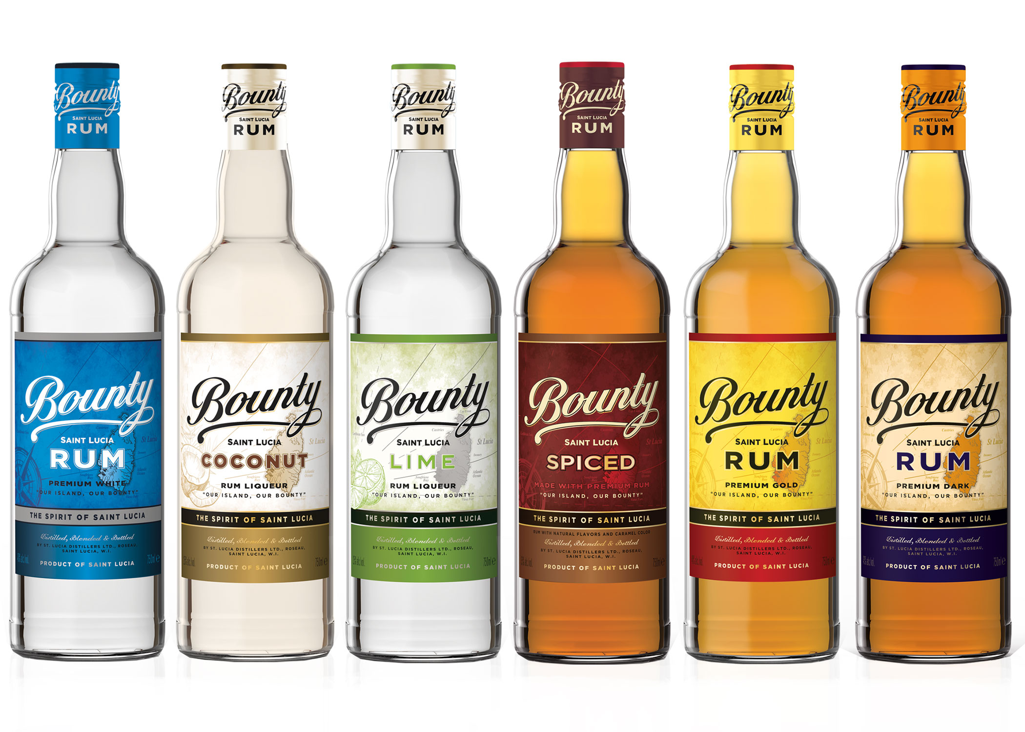 BOUNTY RUM - Bounty Rum 'The Spirit of Saint Lucia' is produced by St. Lucia Distillers and is the number one favourite on the island. It's never been exported off the island until now!