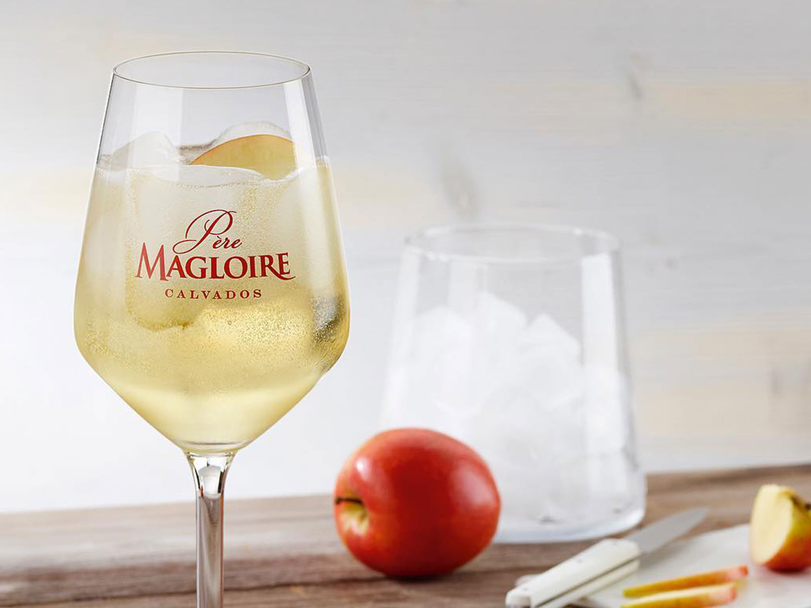 CALVADOS & TONIC - PÈRE MAGLOIRE CALVADOS: Celebrate the Normandy annual apple harvest and learn how to make the Père Magloire Calvados & Tonic. 50ml Père Magloire V.S.O.P., top with a premium quality tonic water and garnish with a fresh slice of apple …enjoy!