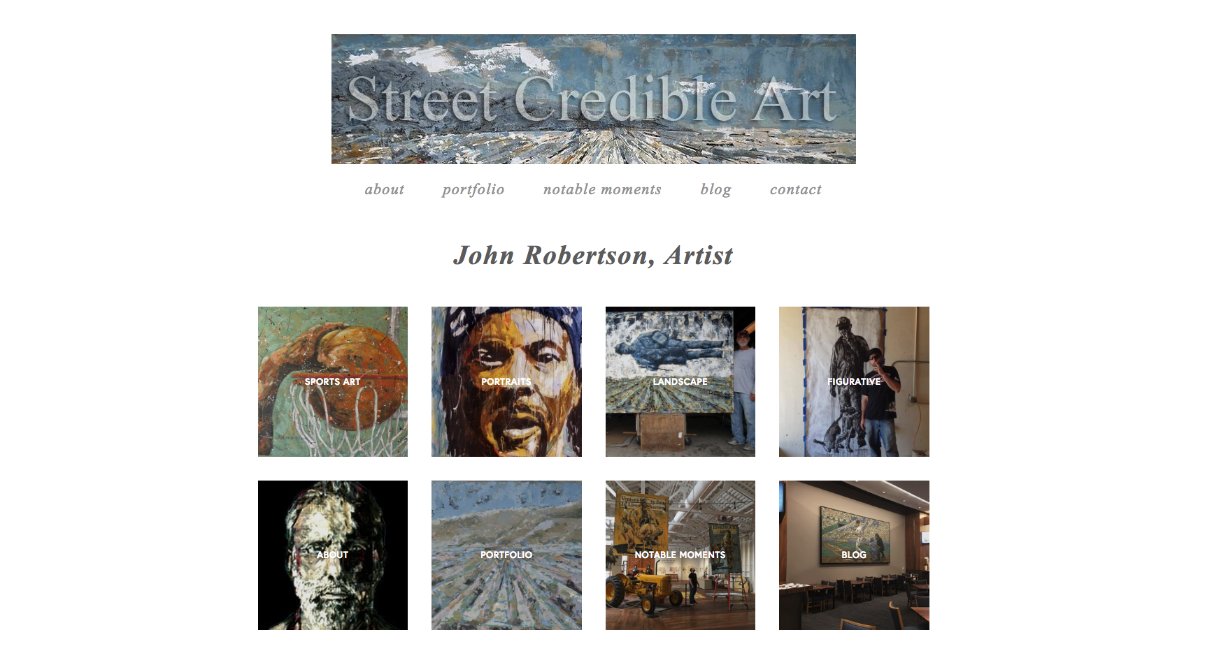John Robertson, Sports Artist