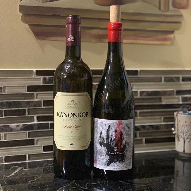 Celebrating #nationalpinotageday yesterday with a couple great bottles! _______________________________________ - 2013 @kanonkopwineestate Pinotage - 2015 @davidandnadia Pinotage Siebritskloof _______________________________________ #pinotage #redwine #wine #wines #redwines #winelover #winelovers #winerylovers #wosa #winesofinstagram #winesofsouthafrica #southafrica #winestagram #winegasm #wineporn #winenight #millennialdrinkers